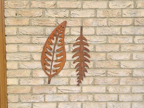 Rusty Metal Fern Leaf Garden Decor MEDIUM