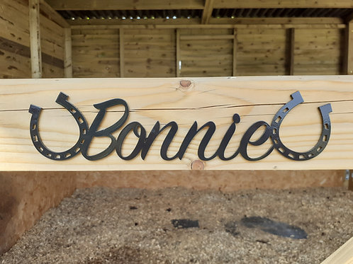 Custom Stable Door Sign / Painted Pony Name Sign