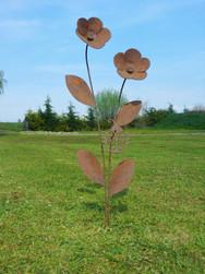 Ladybird with Flowers Sculpture
