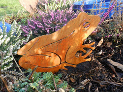 Rusty Metal Frog by Rusty Rooster