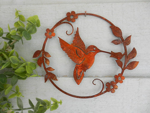 Rusty Hummingbird Wall Decor