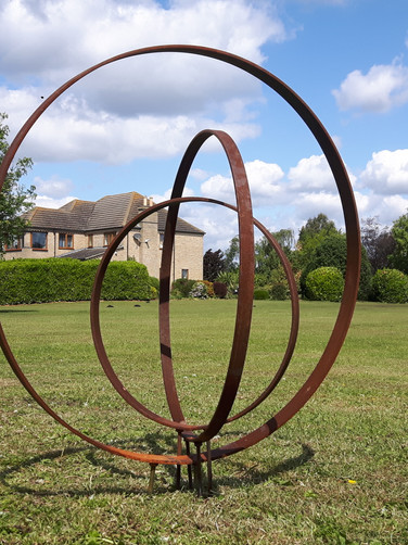 Three Ring Garden Sculpture 1m-0.75m-0.5m
