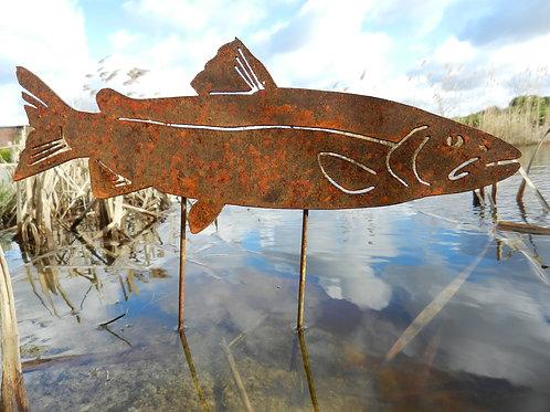 Rusty Metal Fish - Salmon