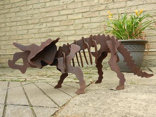 3D Dinosaur Sculpture -Triceratops
