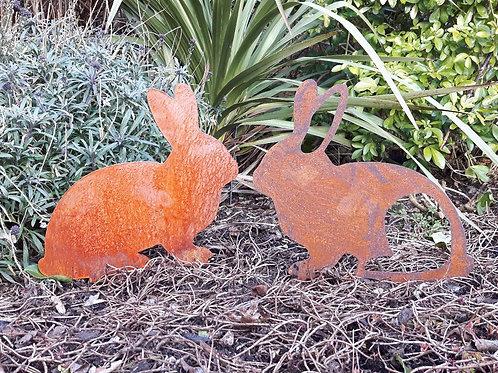 Rusty Metal Bunny Rabbit