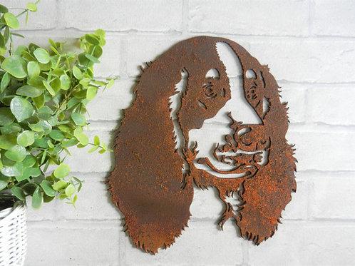 Rusty Metal Springer Spanial Head