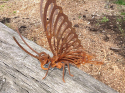 Rusty Metal 3D Butterfly Insect