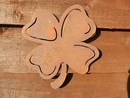 Rusty Metal Four Leaf Clover Lucky Art