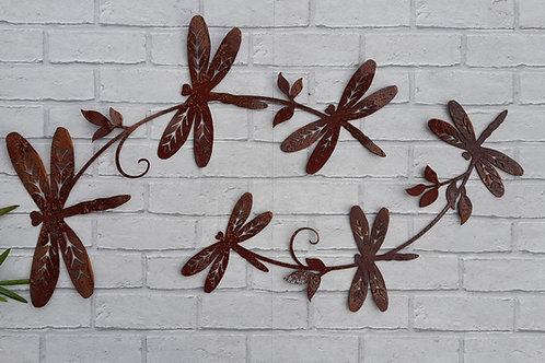 Rusty Metal Dragonfly Wall Decor