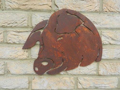 Rusty Metal Pig Head
