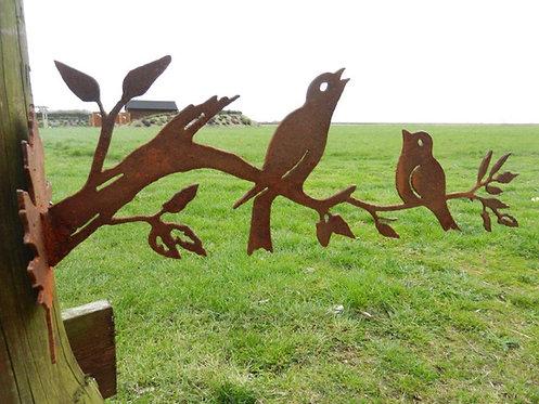 Rusty Metal Bird Decorative Wall Art
