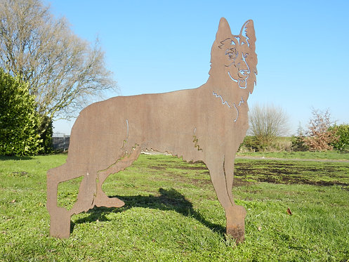 Rusty Metal German Shepherd Dog