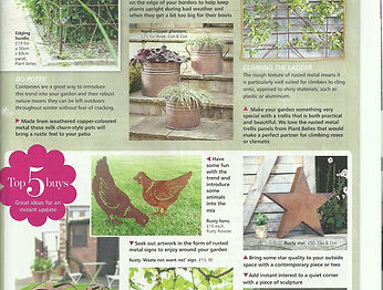 RustyRooster Magazine Entry, Your Home Magazine