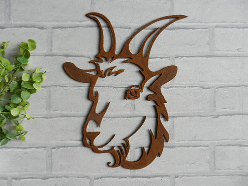 Rusty Metal Goat Head