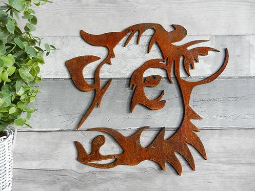Rusty Metal Cow Head