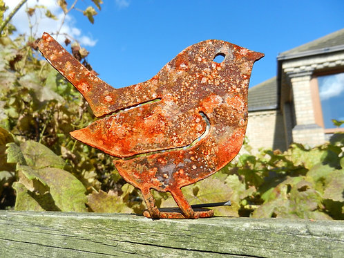 Rusty Metal Wren Bird
