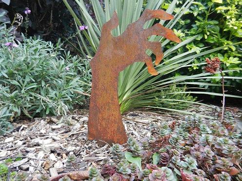 Rusty Metal Zombie Hand Garden Decor