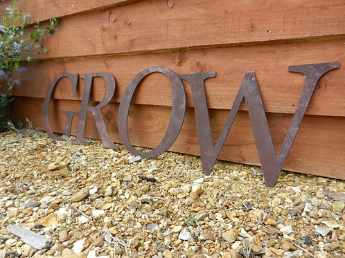 Rustic Metal Letters - GROW Garden Decor