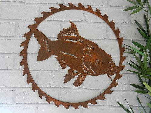 Rusty Metal Koi Carp Fish Wall Art Gift