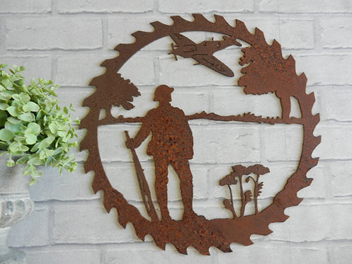 Rusty Metal Solider Wall Art
