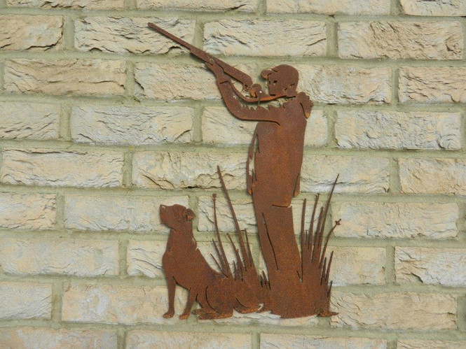 Rusty Metal Wall Decoration