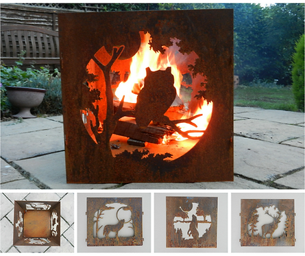 Rusty Metal Decorative Fire Pit