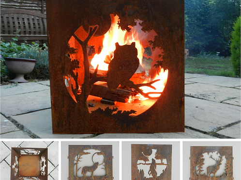 Rusty Metal Decorative Fire Pit