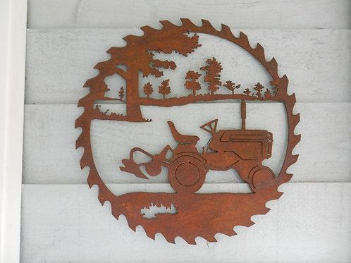 Rusty Metal Vintage Tractor Wall Art