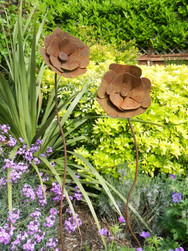 Doube Headed Flower Decor