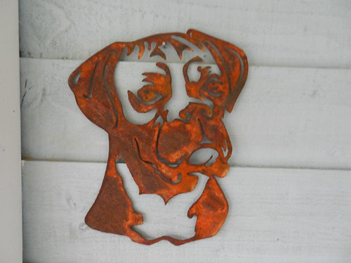 Rusty Metal Boxer Head
