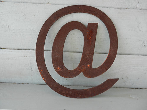 Rustic Metal Letters - @ Garden Decor