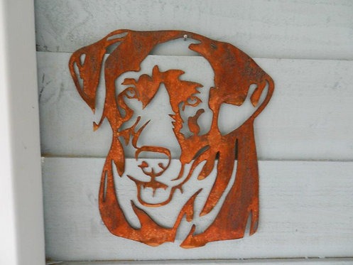 Rusty Metal Labrador Head