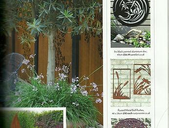 Rusty Metal Wall Art as seen in Modern Gardens Magazine