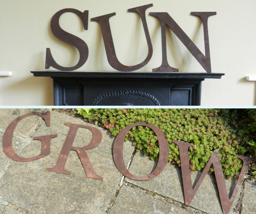 Metal Garden Letters Rusty Metal Letters  Make You Own Sign  Rusty Metal Garden Decor