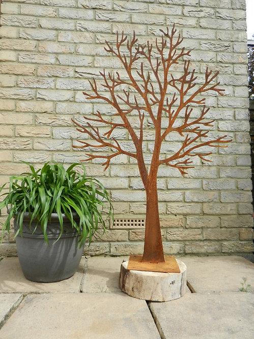 Rusty Metal Tree Sculpture