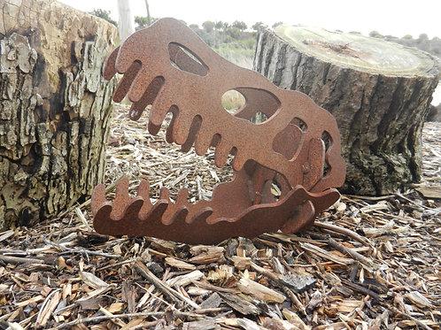 Rusty Metal Dinosaur Skull