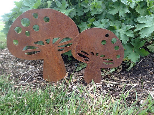 Rusty Metal Mushrooms