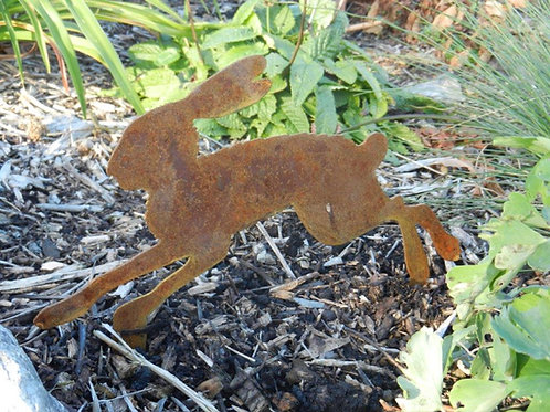 Rusty Metal Baby Running Hare