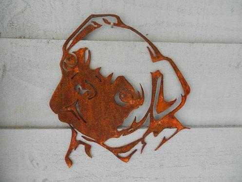 Rusty Metal Pug Head
