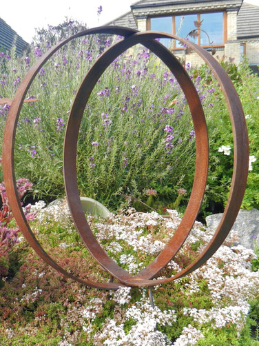 Twin Ring Garden Sculpture