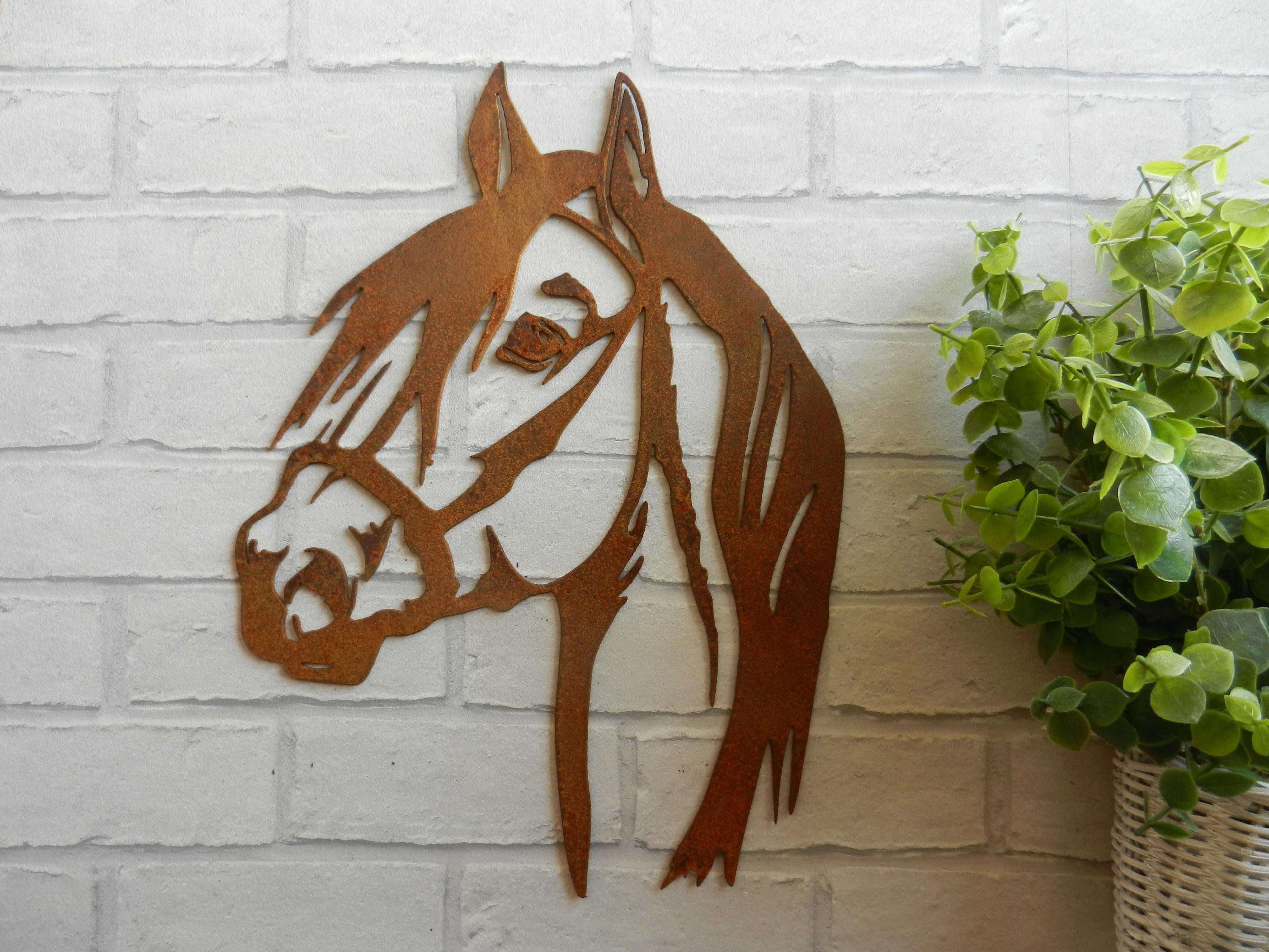 Rusty Metal Horse Head Rustyrooster