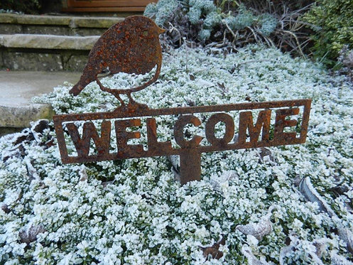 Welcome Robin Sign