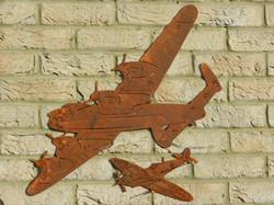 Rusty Metal Lancaster & Spitfire Gif