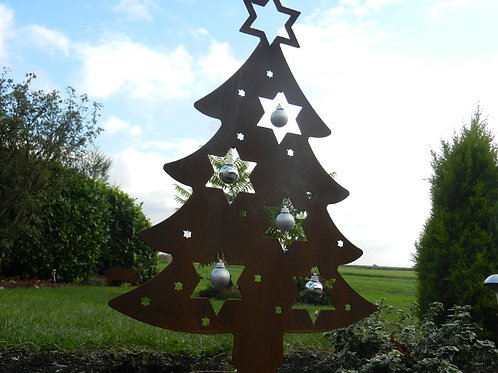 Rusty Metal Christmas Tree - Christmas Garden Decoration