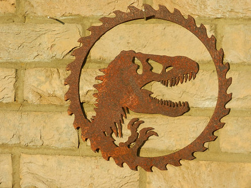 Rusty Dinosaur Wall Art