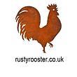 Rusty Rooster Metal Garden Art