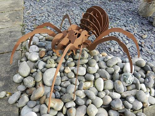 Rusty Metal Giant 3D Spider Sculpture