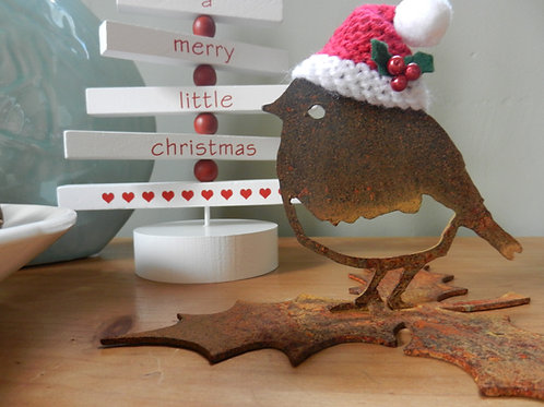 Rustic Christmas Robin Decoration