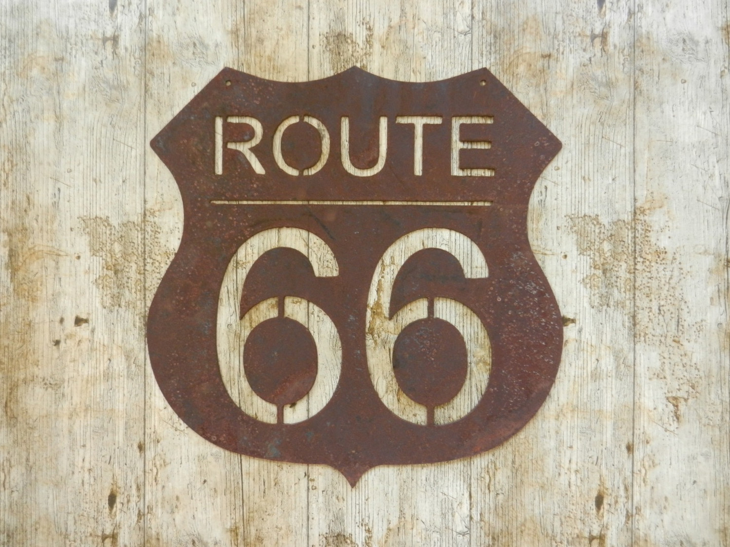 Rustic Route 66 Sign