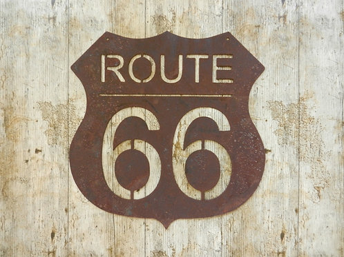 Rusty Metal Route 66 Sign